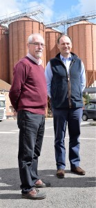 Euan Macpherson (Left) and Adrian Dyter outside the maltings